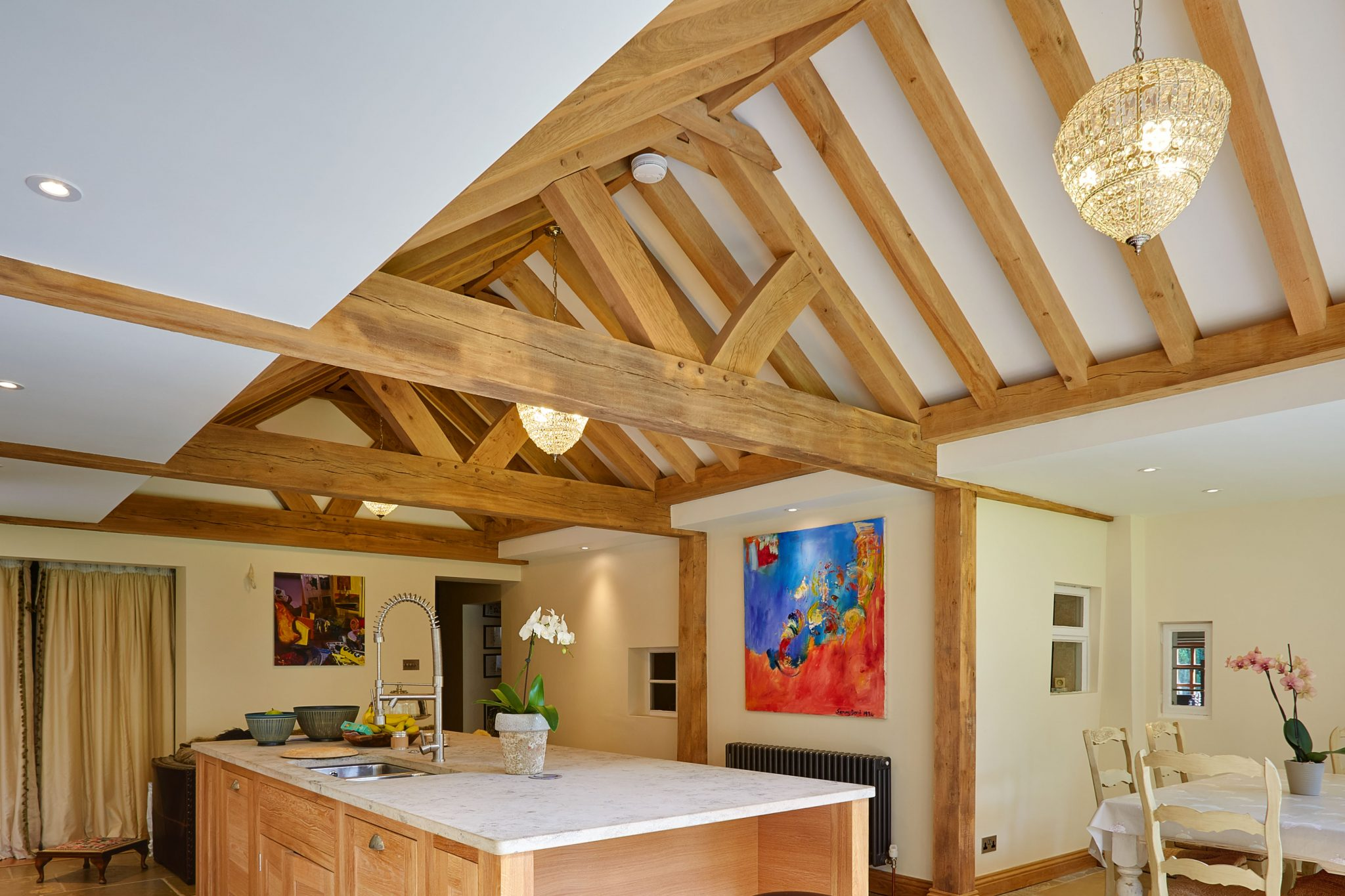 Oak Trusses | Green Oak Timber Roof Trusses | Hartwood Oak Buildings